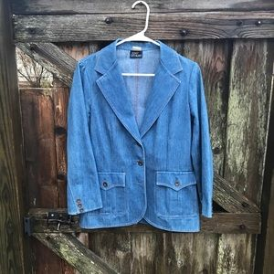 Vintage Koret City blues denim blazer size 10